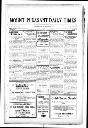 Primary view of object titled 'Mount Pleasant Daily Times (Mount Pleasant, Tex.), Vol. 10, No. 133, Ed. 1 Tuesday, August 13, 1929'.