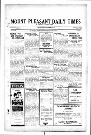 Primary view of object titled 'Mount Pleasant Daily Times (Mount Pleasant, Tex.), Vol. 10, No. 5, Ed. 1 Wednesday, March 13, 1929'.
