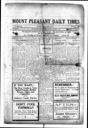 Primary view of object titled 'Mount Pleasant Daily Times (Mount Pleasant, Tex.), Vol. 8, No. 215, Ed. 1 Wednesday, November 17, 1926'.