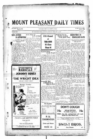 Primary view of object titled 'Mount Pleasant Daily Times (Mount Pleasant, Tex.), Vol. 10, No. 311, Ed. 1 Saturday, February 16, 1929'.