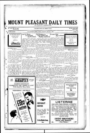 Primary view of object titled 'Mount Pleasant Daily Times (Mount Pleasant, Tex.), Vol. 11, No. 283, Ed. 1 Tuesday, February 4, 1930'.