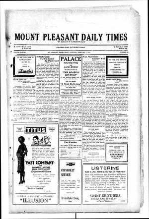 Primary view of object titled 'Mount Pleasant Daily Times (Mount Pleasant, Tex.), Vol. 11, No. 286, Ed. 1 Friday, February 7, 1930'.