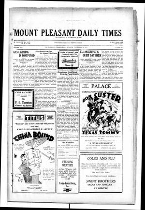Primary view of object titled 'Mount Pleasant Daily Times (Mount Pleasant, Tex.), Vol. 10, No. 224, Ed. 1 Friday, November 29, 1929'.