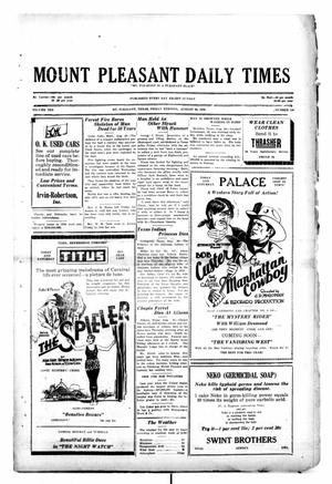 Primary view of object titled 'Mount Pleasant Daily Times (Mount Pleasant, Tex.), Vol. 10, No. 148, Ed. 1 Friday, August 30, 1929'.