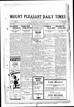 Primary view of object titled 'Mount Pleasant Daily Times (Mount Pleasant, Tex.), Vol. 10, No. 16, Ed. 1 Tuesday, March 26, 1929'.