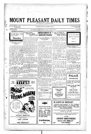 Primary view of object titled 'Mount Pleasant Daily Times (Mount Pleasant, Tex.), Vol. 11, No. 200, Ed. 1 Friday, March 7, 1930'.