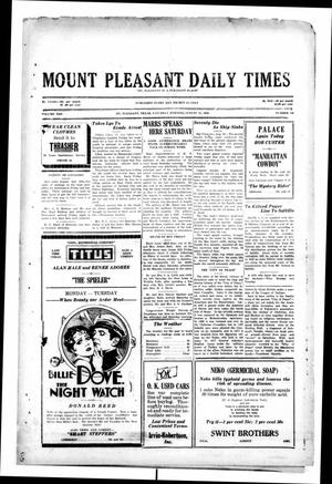 Primary view of object titled 'Mount Pleasant Daily Times (Mount Pleasant, Tex.), Vol. 10, No. 149, Ed. 1 Saturday, August 31, 1929'.