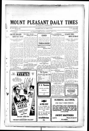 Primary view of object titled 'Mount Pleasant Daily Times (Mount Pleasant, Tex.), Vol. 12, No. 40, Ed. 1 Wednesday, April 30, 1930'.