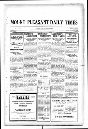 Primary view of object titled 'Mount Pleasant Daily Times (Mount Pleasant, Tex.), Vol. 10, No. 189, Ed. 1 Friday, October 18, 1929'.
