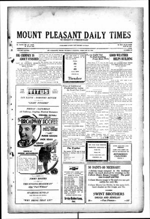 Primary view of object titled 'Mount Pleasant Daily Times (Mount Pleasant, Tex.), Vol. 11, No. 287, Ed. 1 Thursday, February 20, 1930'.