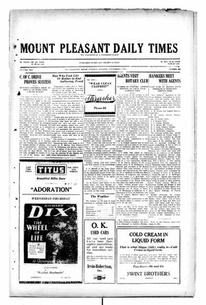 Primary view of object titled 'Mount Pleasant Daily Times (Mount Pleasant, Tex.), Vol. 10, No. 204, Ed. 1 Tuesday, November 5, 1929'.