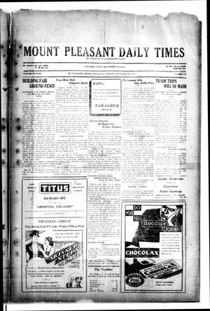 Primary view of object titled 'Mount Pleasant Daily Times (Mount Pleasant, Tex.), Vol. 12, No. 148, Ed. 1 Wednesday, September 10, 1930'.