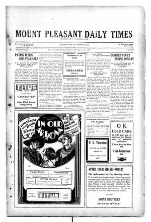Primary view of object titled 'Mount Pleasant Daily Times (Mount Pleasant, Tex.), Vol. 12, No. 69, Ed. 1 Thursday, June 5, 1930'.