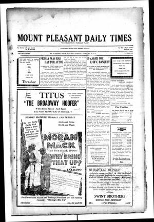 Primary view of object titled 'Mount Pleasant Daily Times (Mount Pleasant, Tex.), Vol. 11, No. 289, Ed. 1 Saturday, February 22, 1930'.