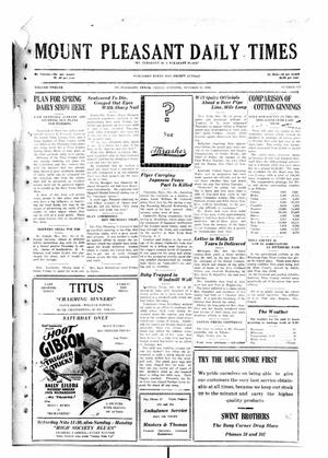 Primary view of object titled 'Mount Pleasant Daily Times (Mount Pleasant, Tex.), Vol. 12, No. 179, Ed. 1 Friday, October 17, 1930'.