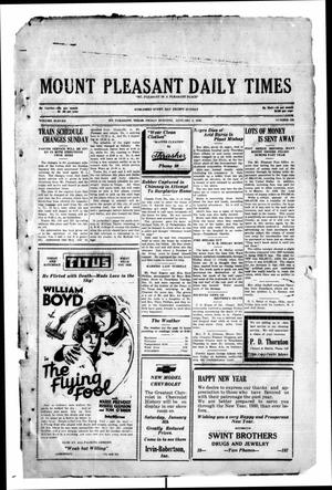 Primary view of object titled 'Mount Pleasant Daily Times (Mount Pleasant, Tex.), Vol. 11, No. 256, Ed. 1 Friday, January 3, 1930'.