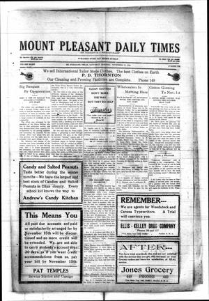 Primary view of object titled 'Mount Pleasant Daily Times (Mount Pleasant, Tex.), Vol. 8, No. 212, Ed. 1 Saturday, November 13, 1926'.