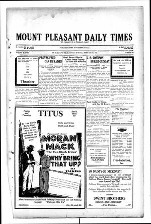 Primary view of object titled 'Mount Pleasant Daily Times (Mount Pleasant, Tex.), Vol. 11, No. 290, Ed. 1 Monday, February 24, 1930'.