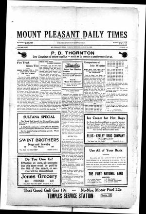 Primary view of object titled 'Mount Pleasant Daily Times (Mount Pleasant, Tex.), Vol. 8, No. 143, Ed. 1 Tuesday, August 24, 1926'.