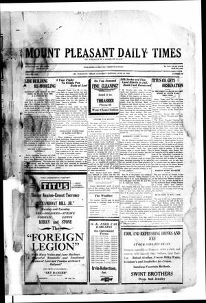 Primary view of object titled 'Mount Pleasant Daily Times (Mount Pleasant, Tex.), Vol. 10, No. 96, Ed. 1 Saturday, June 29, 1929'.