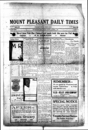 Primary view of object titled 'Mount Pleasant Daily Times (Mount Pleasant, Tex.), Vol. 8, No. 178, Ed. 1 Monday, October 4, 1926'.