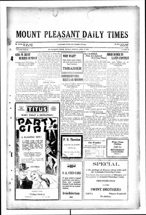 Primary view of object titled 'Mount Pleasant Daily Times (Mount Pleasant, Tex.), Vol. 12, No. 27, Ed. 1 Monday, April 14, 1930'.
