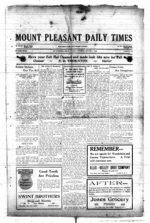 Primary view of object titled 'Mount Pleasant Daily Times (Mount Pleasant, Tex.), Vol. 8, No. 179, Ed. 1 Tuesday, October 5, 1926'.