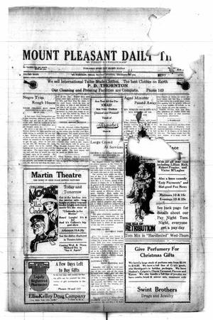 Primary view of object titled 'Mount Pleasant Daily Times (Mount Pleasant, Tex.), Vol. 8, No. [242], Ed. 1 Monday, December 20, 1926'.