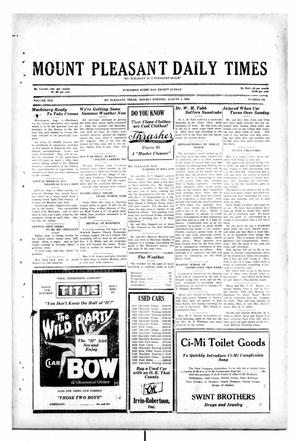 Primary view of object titled 'Mount Pleasant Daily Times (Mount Pleasant, Tex.), Vol. 10, No. 126, Ed. 1 Monday, August 5, 1929'.