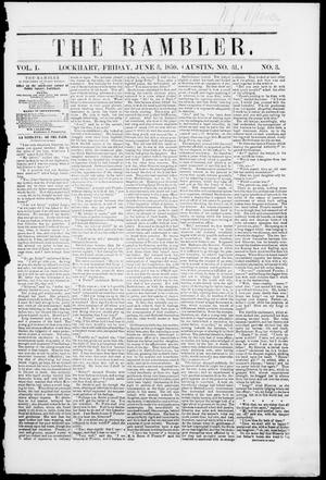 The Rambler (Lockhart, Tex.), Vol. 1, No. 30, Ed. 1, Friday, June 3, 1859