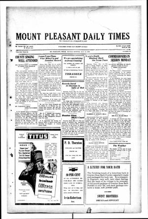 Primary view of object titled 'Mount Pleasant Daily Times (Mount Pleasant, Tex.), Vol. 12, No. 48, Ed. 1 Monday, May 12, 1930'.