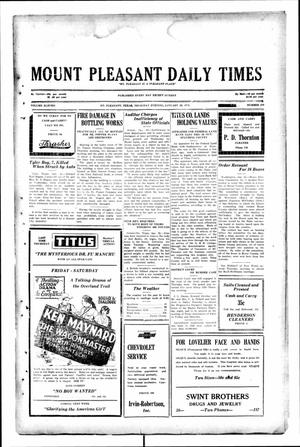 Primary view of object titled 'Mount Pleasant Daily Times (Mount Pleasant, Tex.), Vol. 11, No. 279, Ed. 1 Thursday, January 30, 1930'.