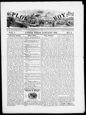 The Plow Boy (Austin, Tex.), Vol. 1, No. 3, Ed. 1, Friday, January 1, 1869