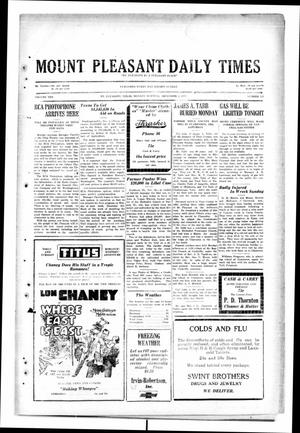 Primary view of object titled 'Mount Pleasant Daily Times (Mount Pleasant, Tex.), Vol. 10, No. 226, Ed. 1 Monday, December 2, 1929'.