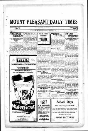 Primary view of object titled 'Mount Pleasant Daily Times (Mount Pleasant, Tex.), Vol. 10, No. 157, Ed. 1 Tuesday, September 10, 1929'.