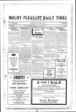 Primary view of object titled 'Mount Pleasant Daily Times (Mount Pleasant, Tex.), Vol. 11, No. 218, Ed. 1 Friday, March 28, 1930'.