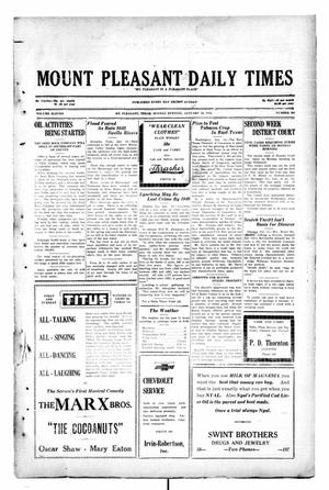 Primary view of object titled 'Mount Pleasant Daily Times (Mount Pleasant, Tex.), Vol. 11, No. 264, Ed. 1 Monday, January 13, 1930'.