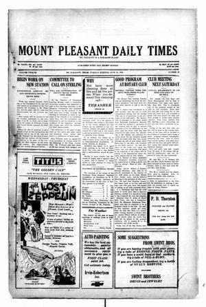 Primary view of object titled 'Mount Pleasant Daily Times (Mount Pleasant, Tex.), Vol. 12, No. 84, Ed. 1 Tuesday, June 24, 1930'.