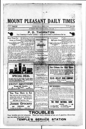 Primary view of object titled 'Mount Pleasant Daily Times (Mount Pleasant, Tex.), Vol. 8, No. 81, Ed. 1 Wednesday, June 9, 1926'.