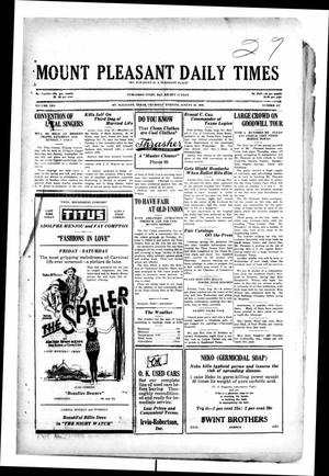 Primary view of object titled 'Mount Pleasant Daily Times (Mount Pleasant, Tex.), Vol. 10, No. 147, Ed. 1 Thursday, August 29, 1929'.