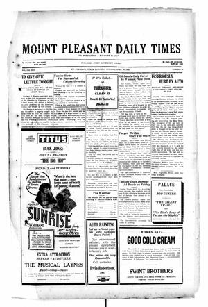 Primary view of object titled 'Mount Pleasant Daily Times (Mount Pleasant, Tex.), Vol. 10, No. 37, Ed. 1 Friday, April 19, 1929'.