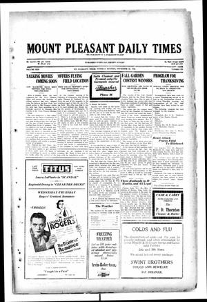 Primary view of object titled 'Mount Pleasant Daily Times (Mount Pleasant, Tex.), Vol. 10, No. 222, Ed. 1 Tuesday, November 26, 1929'.
