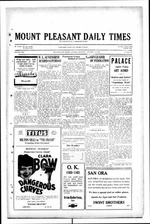Primary view of object titled 'Mount Pleasant Daily Times (Mount Pleasant, Tex.), Vol. 10, No. 214, Ed. 1 Saturday, November 16, 1929'.
