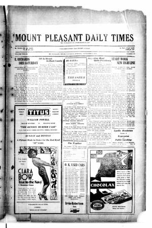 Primary view of object titled 'Mount Pleasant Daily Times (Mount Pleasant, Tex.), Vol. 12, No. 145, Ed. 1 Saturday, September 6, 1930'.