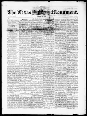 The Texas Monument (La Grange, Tex.), Vol. 1, No. 51, Ed. 1, Wednesday, July 9, 1851