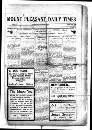 Primary view of object titled 'Mount Pleasant Daily Times (Mount Pleasant, Tex.), Vol. 8, No. 213, Ed. 1 Monday, November 15, 1926'.