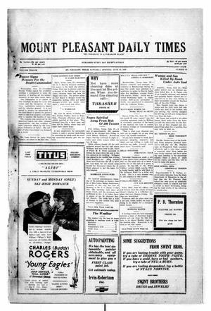 Primary view of object titled 'Mount Pleasant Daily Times (Mount Pleasant, Tex.), Vol. 12, No. 88, Ed. 1 Saturday, June 28, 1930'.