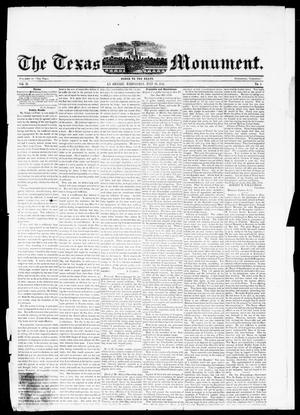 The Texas Monument (La Grange, Tex.), Vol. 2, No. 1, Ed. 1, Wednesday, July 23, 1851