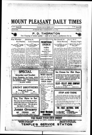 Primary view of object titled 'Mount Pleasant Daily Times (Mount Pleasant, Tex.), Vol. 8, No. 102, Ed. 1 Saturday, July 3, 1926'.