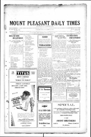 Primary view of object titled 'Mount Pleasant Daily Times (Mount Pleasant, Tex.), Vol. 12, No. 35, Ed. 1 Thursday, April 24, 1930'.